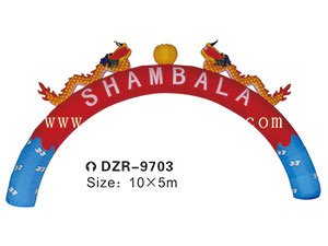 DZR-9703 Inflatable Tent Obstacle Cartoon